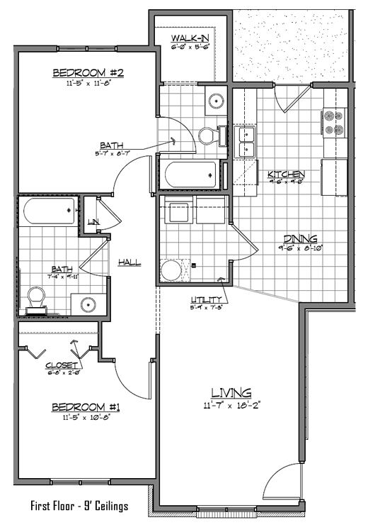 Pinecrest Apartments Floor Plan